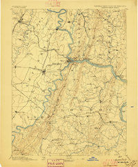 Harpers Ferry Virginia Historical topographic map, 1:125000 scale, 30 X 30 Minute, Year 1884