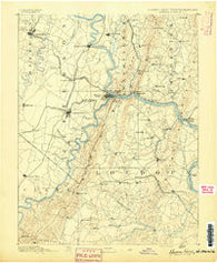 Harpers Ferry Virginia Historical topographic map, 1:125000 scale, 30 X 30 Minute, Year 1891