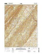 Hayfield Virginia Current topographic map, 1:24000 scale, 7.5 X 7.5 Minute, Year 2016 from Virginia Map Store
