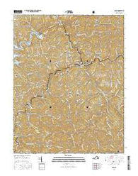 Haysi Virginia Current topographic map, 1:24000 scale, 7.5 X 7.5 Minute, Year 2016