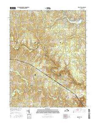 Hewlett Virginia Current topographic map, 1:24000 scale, 7.5 X 7.5 Minute, Year 2016
