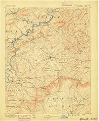 Hillsville Virginia Historical topographic map, 1:125000 scale, 30 X 30 Minute, Year 1889