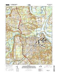 Hopewell Virginia Current topographic map, 1:24000 scale, 7.5 X 7.5 Minute, Year 2016