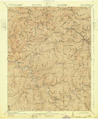 Hurley Virginia Historical topographic map, 1:62500 scale, 15 X 15 Minute, Year 1917
