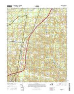 Jarratt Virginia Current topographic map, 1:24000 scale, 7.5 X 7.5 Minute, Year 2016 from Virginia Map Store
