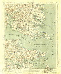 Kilmarnock Virginia Historical topographic map, 1:62500 scale, 15 X 15 Minute, Year 1917