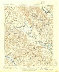 King William Virginia Historical topographic map, 1:62500 scale, 15 X 15 Minute, Year 1920