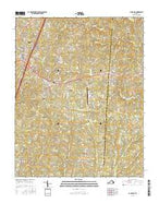 La Crosse Virginia Current topographic map, 1:24000 scale, 7.5 X 7.5 Minute, Year 2016 from Virginia Map Store