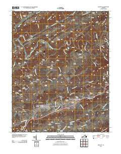 Lebanon Virginia Historical topographic map, 1:24000 scale, 7.5 X 7.5 Minute, Year 2010