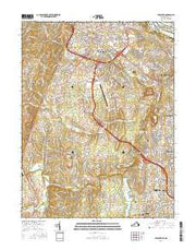 Leesburg Virginia Current topographic map, 1:24000 scale, 7.5 X 7.5 Minute, Year 2016 from Virginia Maps Store
