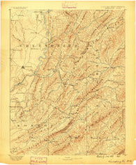 Lewisburg West Virginia Historical topographic map, 1:125000 scale, 30 X 30 Minute, Year 1887