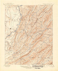 Lewisburg West Virginia Historical topographic map, 1:125000 scale, 30 X 30 Minute, Year 1891
