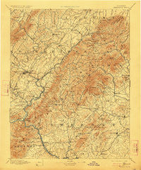 Lexington Virginia Historical topographic map, 1:125000 scale, 30 X 30 Minute, Year 1894