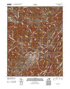 Lexington Virginia Historical topographic map, 1:24000 scale, 7.5 X 7.5 Minute, Year 2010