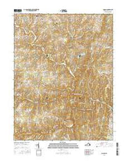 Lincoln Virginia Current topographic map, 1:24000 scale, 7.5 X 7.5 Minute, Year 2016 from Virginia Maps Store