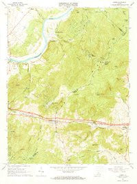 Linden Virginia Historical topographic map, 1:24000 scale, 7.5 X 7.5 Minute, Year 1966