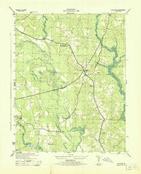 Littleton Virginia Historical topographic map, 1:31680 scale, 7.5 X 7.5 Minute, Year 1943
