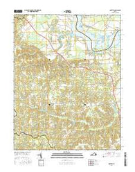Loretto Virginia Current topographic map, 1:24000 scale, 7.5 X 7.5 Minute, Year 2016