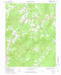 Lovingston Virginia Historical topographic map, 1:24000 scale, 7.5 X 7.5 Minute, Year 1967
