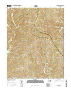 Madisonville Virginia Current topographic map, 1:24000 scale, 7.5 X 7.5 Minute, Year 2016 from Virginia Map Store
