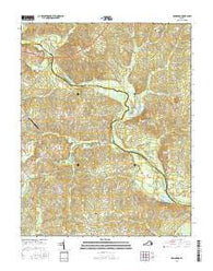 Mannboro Virginia Current topographic map, 1:24000 scale, 7.5 X 7.5 Minute, Year 2016