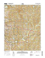 Martinsville East Virginia Current topographic map, 1:24000 scale, 7.5 X 7.5 Minute, Year 2016 from Virginia Map Store