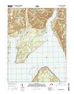 Mathias Point Virginia Current topographic map, 1:24000 scale, 7.5 X 7.5 Minute, Year 2016 from Virginia Map Store