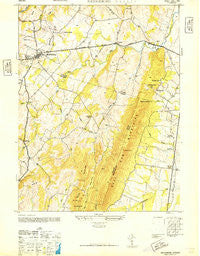 Middleburg Virginia Historical topographic map, 1:24000 scale, 7.5 X 7.5 Minute, Year 1946