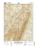 Middleburg Virginia Current topographic map, 1:24000 scale, 7.5 X 7.5 Minute, Year 2016 from Virginia Map Store
