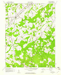 Midland Virginia Historical topographic map, 1:24000 scale, 7.5 X 7.5 Minute, Year 1943
