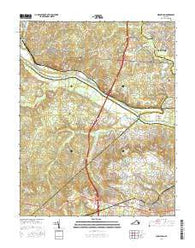 Midlothian Virginia Current topographic map, 1:24000 scale, 7.5 X 7.5 Minute, Year 2016