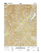 Mine Run Virginia Current topographic map, 1:24000 scale, 7.5 X 7.5 Minute, Year 2016 from Virginia Map Store