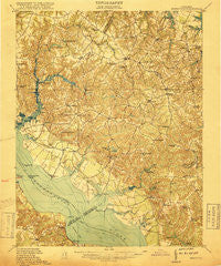 Morattico Virginia Historical topographic map, 1:62500 scale, 15 X 15 Minute, Year 1917