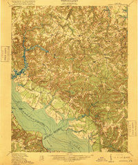 Morattico Virginia Historical topographic map, 1:62500 scale, 15 X 15 Minute, Year 1918