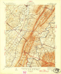 Mt Jackson Virginia Historical topographic map, 1:62500 scale, 15 X 15 Minute, Year 1946
