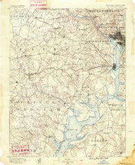 Mt. Vernon Virginia Historical topographic map, 1:125000 scale, 30 X 30 Minute, Year 1890