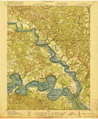New Kent Virginia Historical topographic map, 1:62500 scale, 15 X 15 Minute, Year 1919