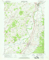 New Market Virginia Historical topographic map, 1:24000 scale, 7.5 X 7.5 Minute, Year 1967
