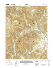 Old Rag Mountain Virginia Current topographic map, 1:24000 scale, 7.5 X 7.5 Minute, Year 2016 from Virginia Maps Store