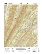 Orkney Springs Virginia Current topographic map, 1:24000 scale, 7.5 X 7.5 Minute, Year 2016 from Virginia Maps Store
