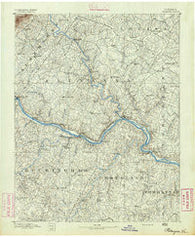 Palmyra Virginia Historical topographic map, 1:125000 scale, 30 X 30 Minute, Year 1891
