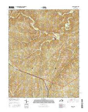 Pamplin Virginia Current topographic map, 1:24000 scale, 7.5 X 7.5 Minute, Year 2016 from Virginia Maps Store