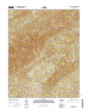 Patrick Springs Virginia Current topographic map, 1:24000 scale, 7.5 X 7.5 Minute, Year 2016 from Virginia Maps Store
