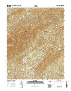 Patrick Springs Virginia Current topographic map, 1:24000 scale, 7.5 X 7.5 Minute, Year 2016