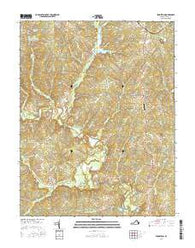 Pendleton Virginia Current topographic map, 1:24000 scale, 7.5 X 7.5 Minute, Year 2016