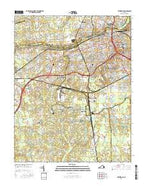 Petersburg Virginia Current topographic map, 1:24000 scale, 7.5 X 7.5 Minute, Year 2016 from Virginia Map Store