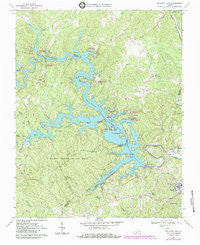 Philpott Lake Virginia Historical topographic map, 1:24000 scale, 7.5 X 7.5 Minute, Year 1967