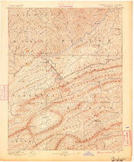 Pocahontas Virginia Historical topographic map, 1:125000 scale, 30 X 30 Minute, Year 1887