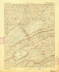 Pocahontas Virginia Historical topographic map, 1:125000 scale, 30 X 30 Minute, Year 1891