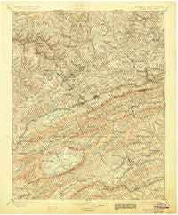 Pocahontas Virginia Historical topographic map, 1:125000 scale, 30 X 30 Minute, Year 1895